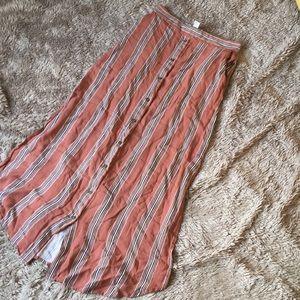 Button up maxi skirt